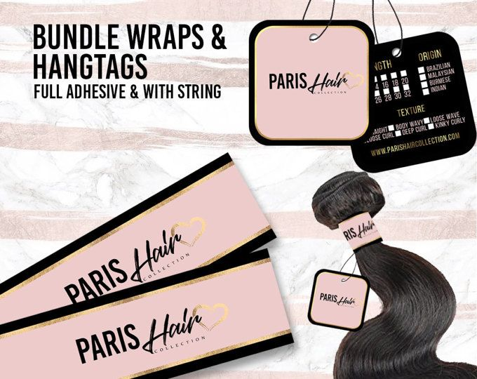 Rectangle Hang Tags Customized For Your Brand Hair Etsy Hair Bundles Business Hairstyles Hair Brands