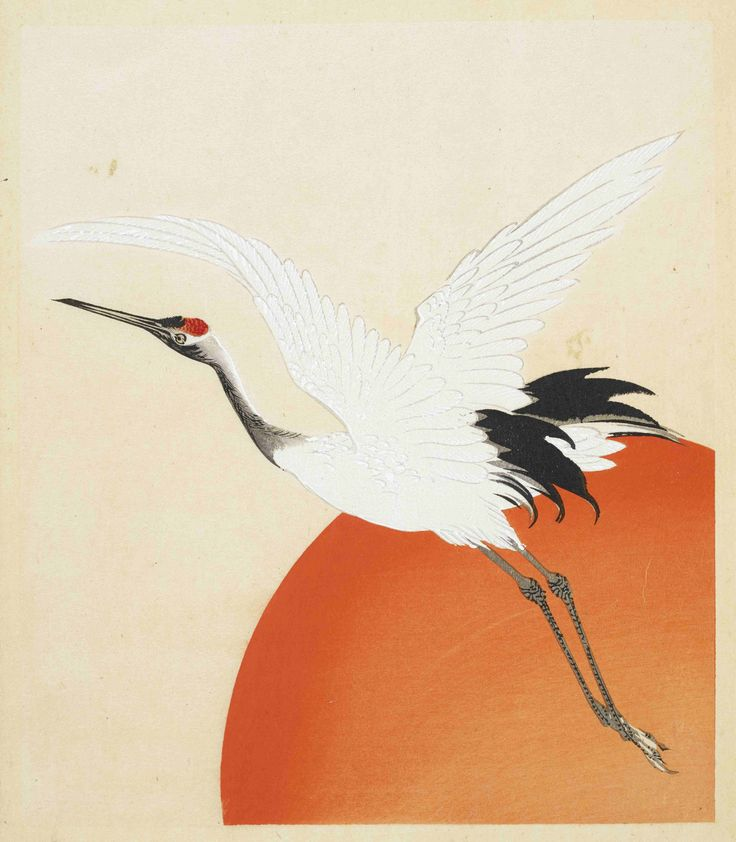 Page from Tennen hyakkaku, 'Tennen's one hundred cranes' by Kaigai Tennen, Kyoto, 1900.