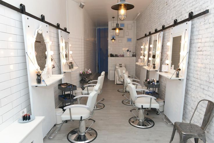 Joli Beauty Bar In NYC Using Our Classic Sliding Barn Door Hardware In  Their Salon!