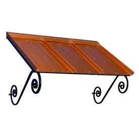 Americana Building Products 54 In Wide X 36 In Projection Copper Penny  Solid Open Slope Window/Door Awning OR3654CP