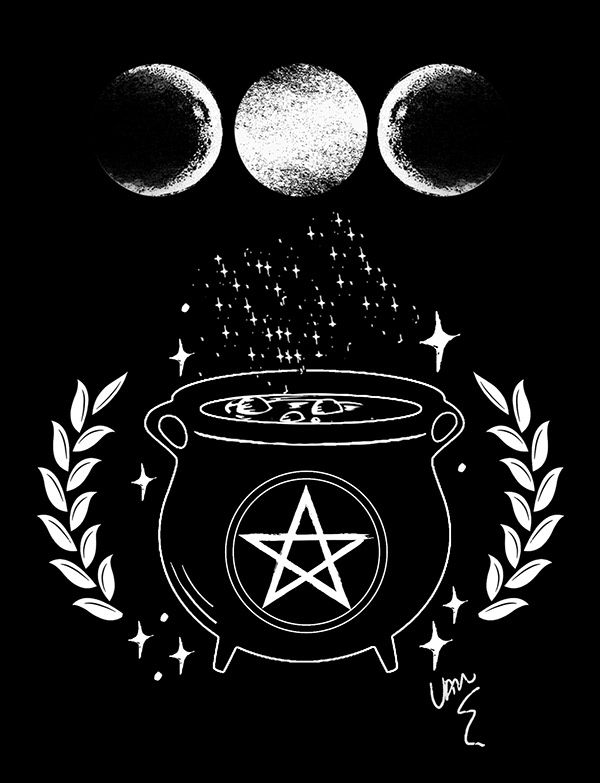 Witch S Cauldron By Van Burmann Witch Wallpaper Wiccan Wallpaper Witchy Wallpaper