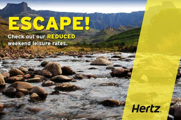 Planning on meeting up with family or friends this weekend? Contact us now on 0861 600 136 or visit https://www.hertz.co.za/ and be prepared to be blown away with our fabulous 'Reduced Weekend Leisure Rate' special!