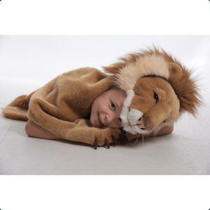 Løve - dyrekostume/tæppe.  Wild & Soft, BiBiB & Co.