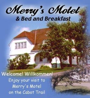merry's motel bb  Located on the scenic Cabot Trail  בב בכניסה לפארק