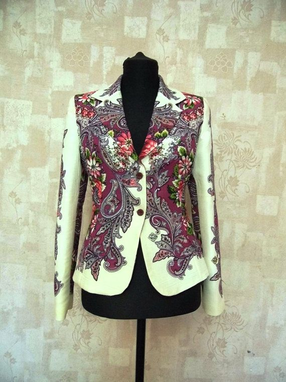 blazer with flowers women's blazer floral by MagicKrafts2000