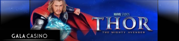 Gala Casino have added Marvel's Thor The Mighty Avenger slot game to their offering – read about the game below and how to get £200 free: http://www.casinomanual.co.uk/play-marvels-thor-mighty-avenger-gala-casino/