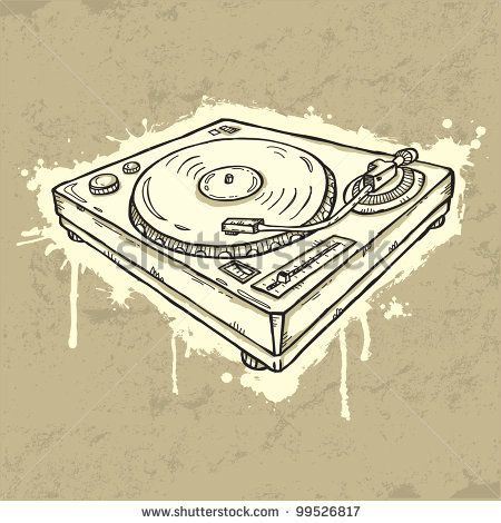 Grunge turntable by Igorij, via Shutterstock