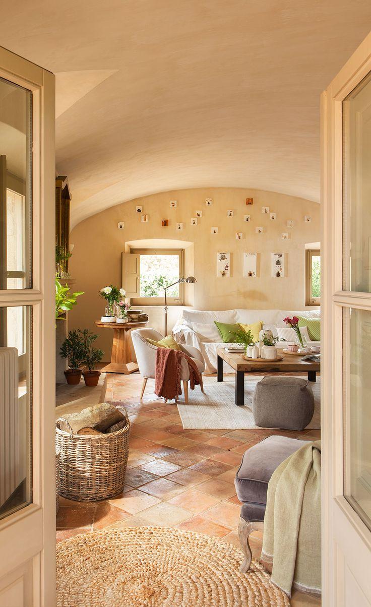 Equilibrada mezcla de estilos vivir en el campo - Decoracion de suelos interiores ...