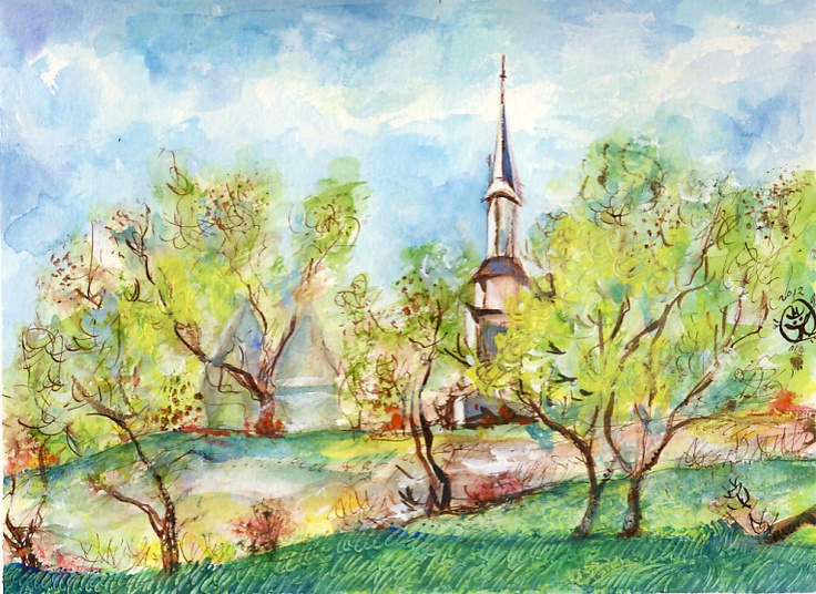 spring watercolor art - Google Search