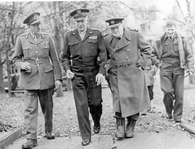 General Dwight Eisenhower, Winston Churchill, Marshall Sir Alan Brooke