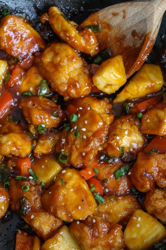 Paleo & Low FODMAP Sweet and Sour Chicken | www.asaucykitchen.com    ****TAKE OUT ONIONS*****