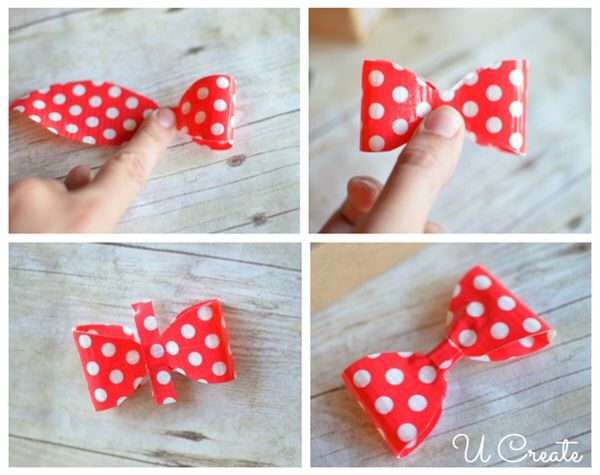 How to make a duck tape bow | How to learn things ...