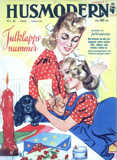 What an immensely darling vintage magazine cover! #vintage #fashion #1940s #magazine #Sweden #Swedish #forties
