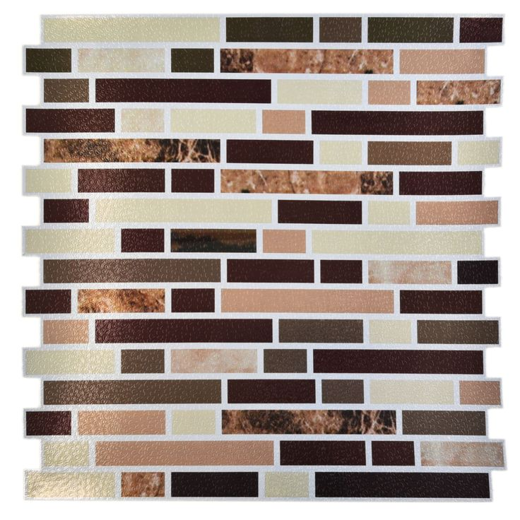 prime source avalon copper 12 x 12 self adhesive backsplash peel stick vinyl - Stein Backsplash Ideen Fr Die Kche