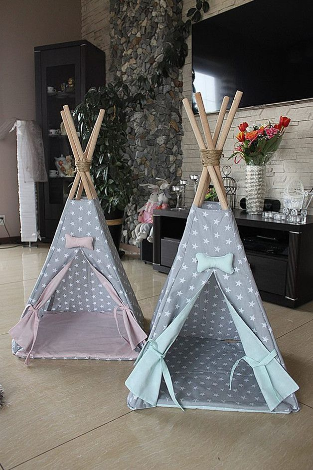 Perfect gift for animals enthusiasts. Dog Beds – Teepee dog house kennel for dogs – a unique product by Happy_Puppy_Shop via en.DaWanda.com
