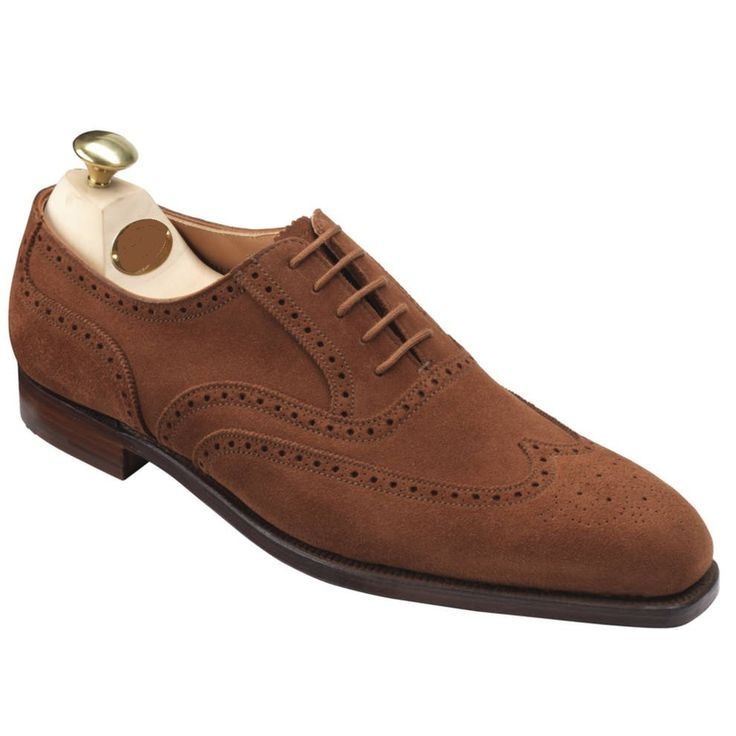 Mens fashion brown Oxford wingtip suede leather shoes, Mens brown formal shoes - Dress/Formal