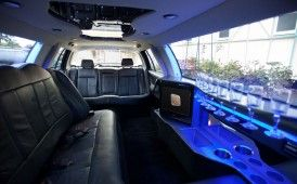 9 seat Stretch Limousine Interior