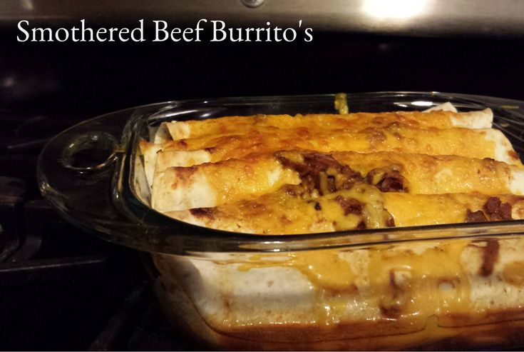Slow Cooker Smothered Beef Burrito's Recipe - momma in flip flops