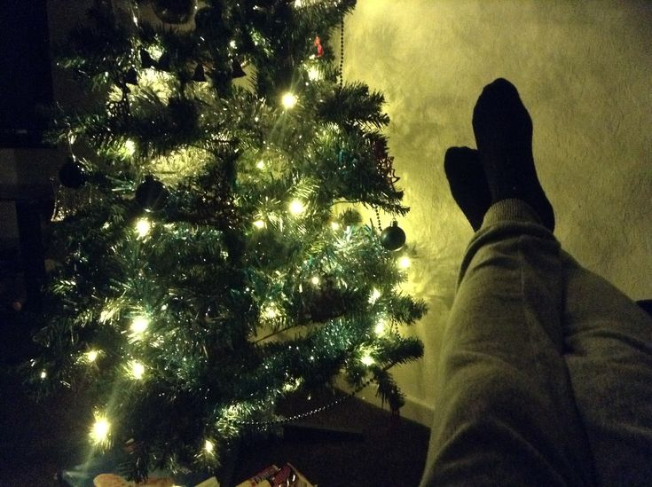 Relaxing...  #christmas #christmastree #christmaslights #relaxing #vacation #green #england