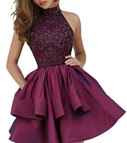 PinRui Short Beaded Homecoming Party Dresses For Juniors PR10015 * Continue to the product at the image link.