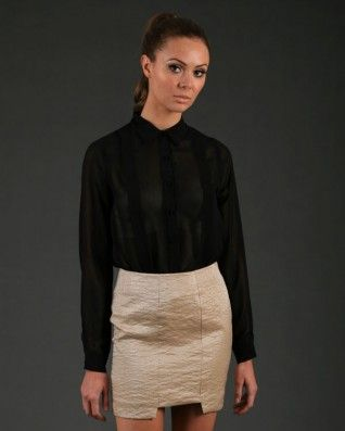 The Gorjess Closet Soft Love Blouse Black - Clothing - Birdmotel Online Store