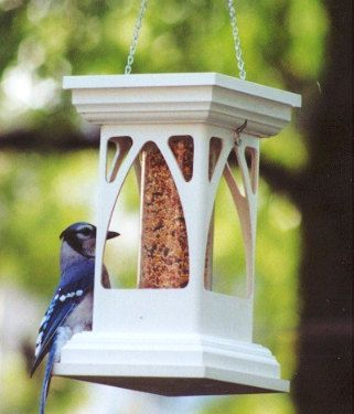 My top seller, a PVC bird feeder with acrylic tube that holds the seed and keeps it dry. 4 openings allow the bird to feed on any side.   Feeder is a hanging style, it is easy to clean and easy to fill. PVC Bird Feeder  Gothic Tube Feeder  Functional by MyRetirementGig,