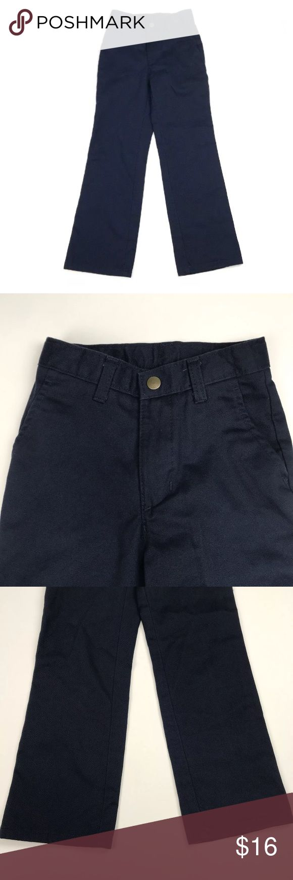 IZOD Slim Fit Dress Pants Size 7 Boys size 7 navy blue IZOD Slim Fit dress pants. 100% cotton.  Comes from a smoke free home!   Pre-owned. In good condition. No rips, tears, holes or stains. Izod Bottoms