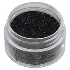 Artisan Colored Acrylic Nail Powder   Holographic Black - 1/2 oz (14.17 gr)