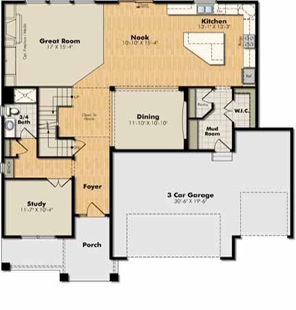 Washburn Main Level Floorplan Lennar Minnesota Floor