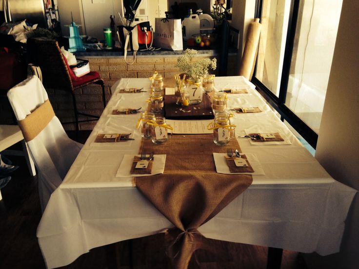 Table settings, everything I made myself