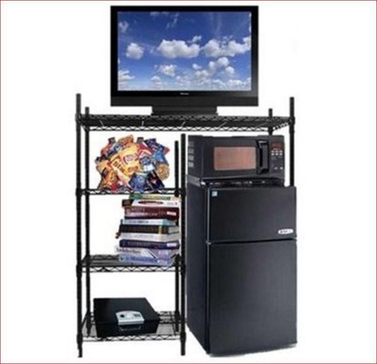 College Dorm Organization Storage Furniture Mini Fridge Shelf  Microwave Stand…