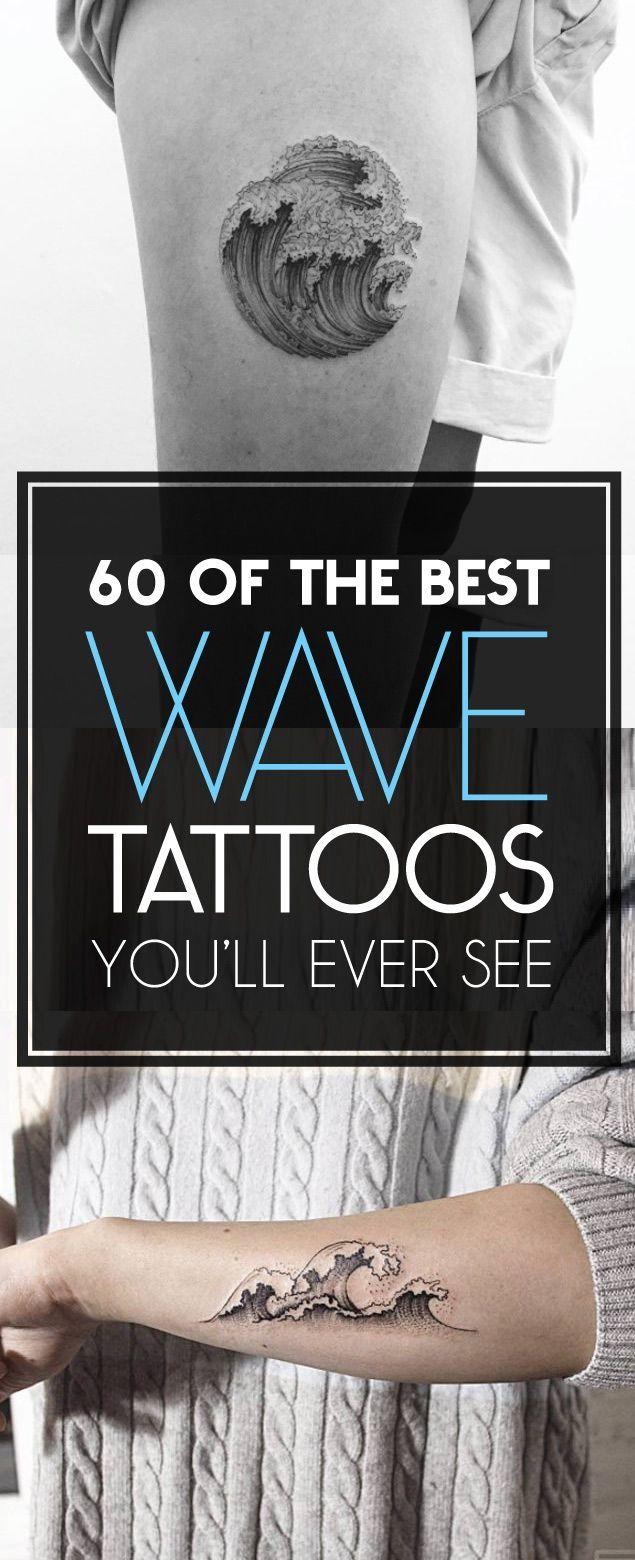 60 of The Best Wave Tattoo Designs | TattooBlend