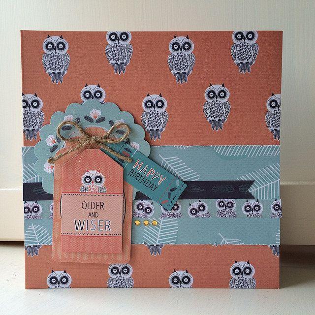 Owl Folk card | stickerkitten.co.uk