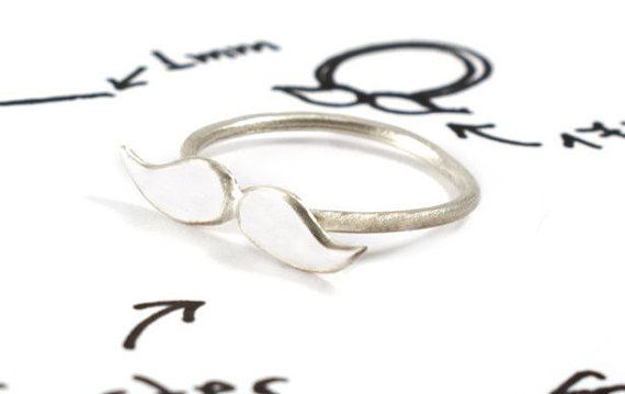 Mustache ring sterling silver mustache hipster by Akatergasto