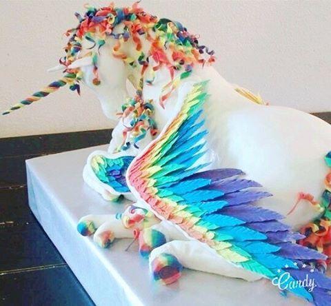 "100 Likes, 21 Comments - Meu Arco-íris de Unicórnio (@meuarcoirisdeunicornio) on Instagram: ""Que bolo é esse? =O  #cake #bolo #aniversario #birthday #candy #unicorn #unicórnio #unicornio…"""