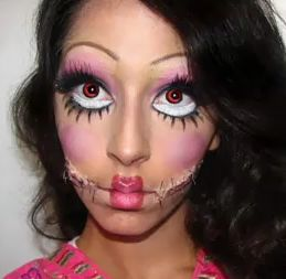 Halloween Makeup - love the eyes. Doll face