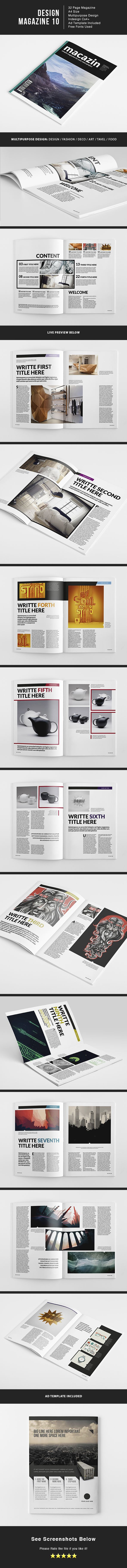 Design MGZ 10 by Lucas Iacono, via Behance
