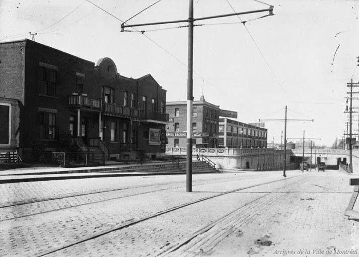 Montreal, 1931 - Park Avenue northbound, facing the corner of Van Horne.