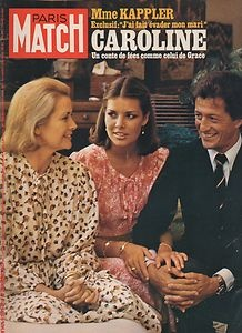 paris match n°1476 Princess Grace, Princess Caroline and Philippe Junot