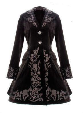 Victorian Black Velvet Coat Gothic Spin Doctor Vintage Gothic Steampunk 2013 New   eBay