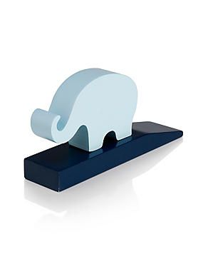 Wedge Your Babyu0027s Nursery With This Blue Mix Elephant Door.