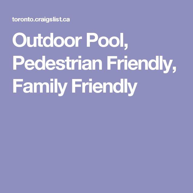 Outdoor Pool, Pedestrian Friendly, Family Friendly