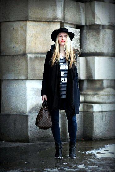 Get this look: http://lb.nu/look/7155396  More looks by Franziska Elea: http://lb.nu/user/4100626-Franziska-E  Items in this look:  Zara Shirt, Zara Coat, Louis Vuitton Bag, Pepe Jeans Shoes, Hollister Jeans   #louisvuitton #hat #hollister #zara #munich