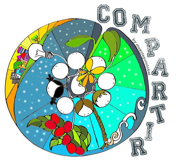Compartir las esperanzas. Compartir el tiempo. Compartir las ideas, compartir el sueño. Compartir las luchas, la resistencia y todas las propuestas. Compartir las alegrías. Y algunos dolores. Y compartir los caminos de justicia y dignidad. Compartir las miradas, los encuentros y también los desencuentros. Compartir el aprendizaje, compartir la semilla, compartir el camino y la cosecha. Compartir contigo. Eeeeeegunon mundo!!!