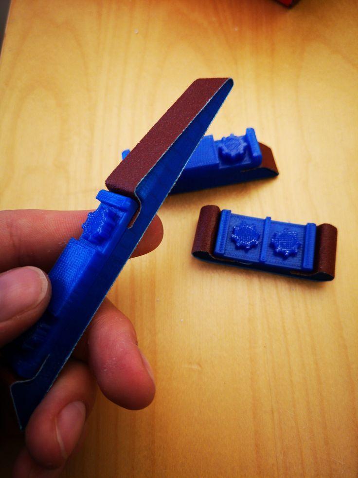 Customizable Sanding Stick By Mightynozzle Thingiverse 3d Drucker 3d Drucker Projekte 3d Drucker Vorlagen