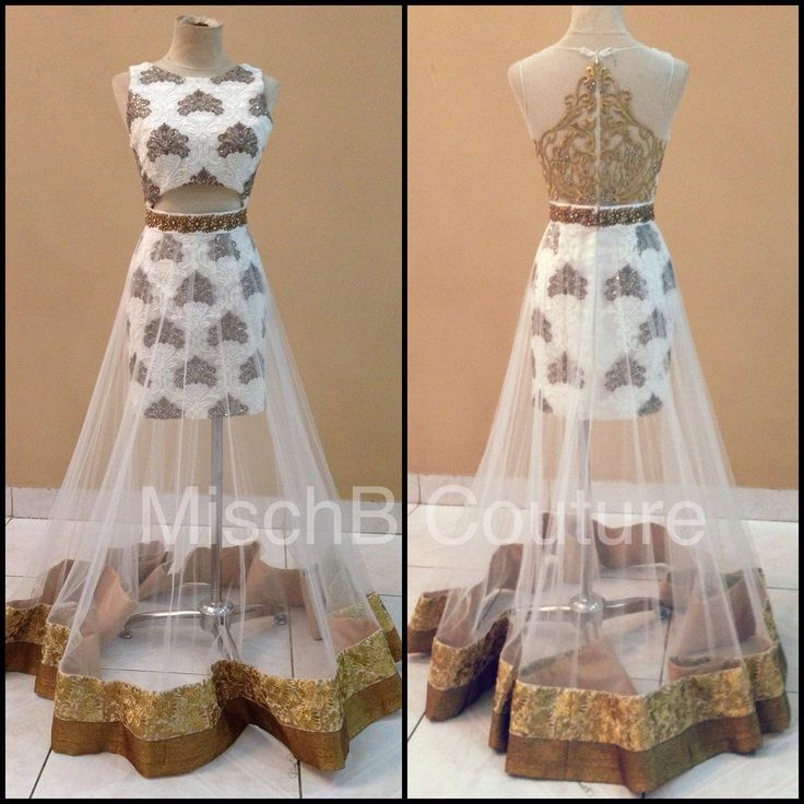 Fusion indian wear by MischB Couture. Fill bottom with white instead of see through