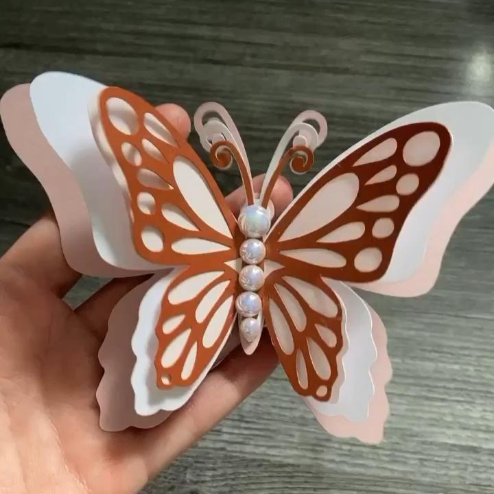 3d butterflies wall decor wall art video diy paper