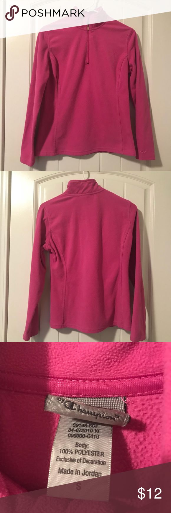 Pink C9 by Champion Pullover Pink C9 by Champion quarter zip fleece pullover, size S. Very cozy! Champion Jackets & Coats