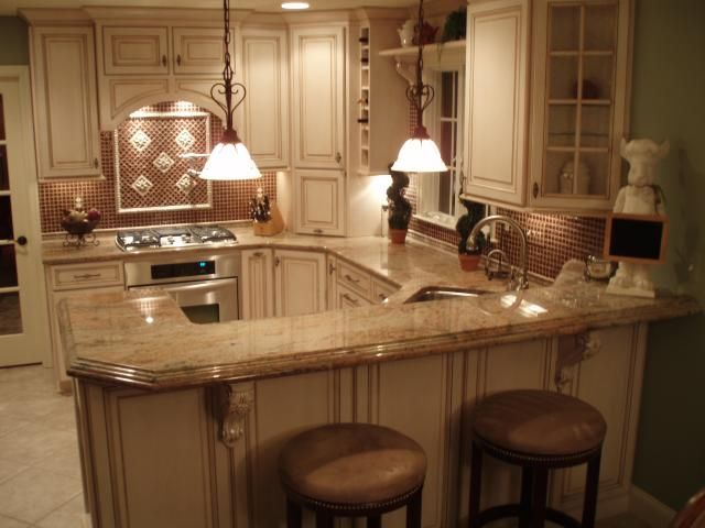 18 best images about basement kitchen lshape with sink for Small kitchen granite countertops