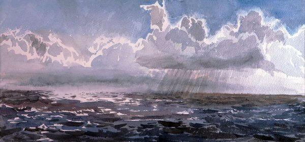 акварельные картины с дождем - Поиск в Google
